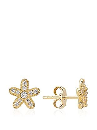 Melin Paris Pendientes Flower Oro