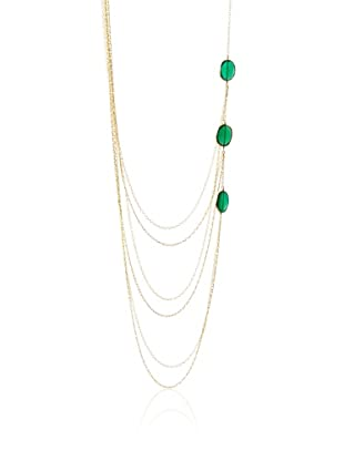 Heather Hawkins 3 Stone Green Onyx Necklace
