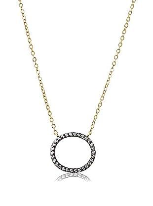 Belargo Cutout Pavé Oval Pendant Necklace