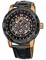 Akribos Automatic Gmt Skeleton Dial Rose Gold-Tone Mens Watch Ak557Rg