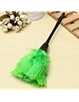 Cleaning Brush Turkey Feather Duster Plastic Handle Office Home Sofa Cleaner(Green)