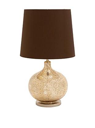 Glass & Metal 1-Light Table Lamp, Brown