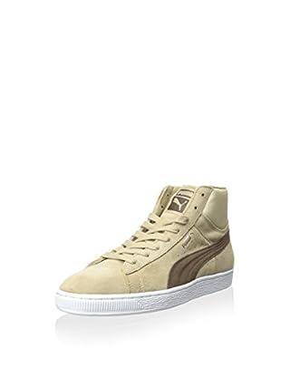 PUMA Men's Suede Mid Classic Natural Calm 2 Hightop Sneaker