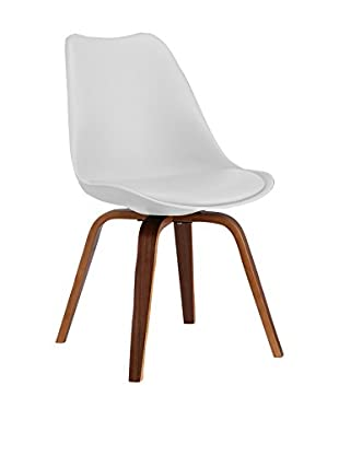 LO+DEMODA Set Silla 2 Uds. Cross Plywood Blanco