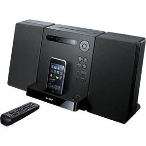 Sony Micro Hi-fi Shelf System With Built in Ipod Dock, CD Player, AM/FM Radio, Remote Control