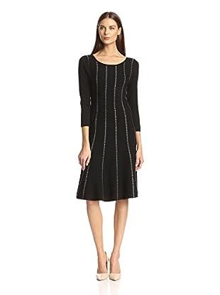 Chetta B Women's Metallic Stripe Sweater Dress