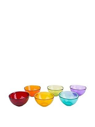 Molecuisine Schüsselchen 6 tlg. Set Scratch mehrfarbig