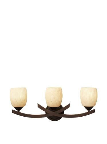 Monte Carlo Esquire 3-Light Vanity, Roman Bronze/Champagne Scavo