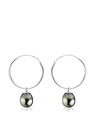 Pearl Addict Pendientes oro blanco 18 ct