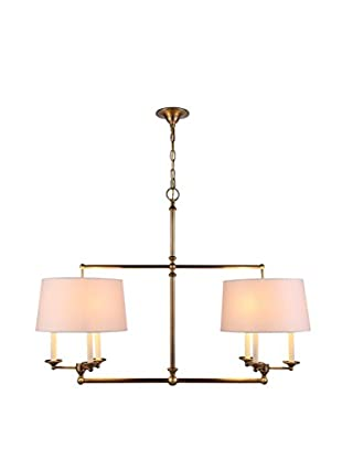 Urban Lights Crawford 6-Light Pendant Lamp, Antique Bronze