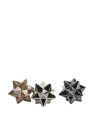Set of 3 Metallic Stargazer Stars