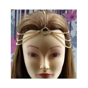 Fayon Funky Fashion Golden Three Layer Fashionable Hair Accessory - 74011