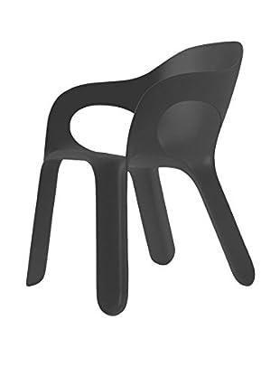 Magis Stuhl 4er Set Easy Chair anthrazit