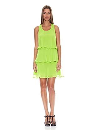 Tantra Vestido Flúor Ruffles (Verde)