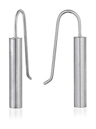 steel art Ohrringe Sagitta Rohr grau