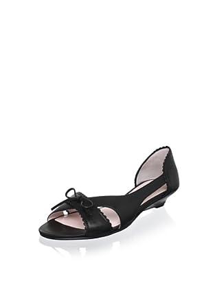 Red Valentino Women's Demi-Wedge Sandal (Black)
