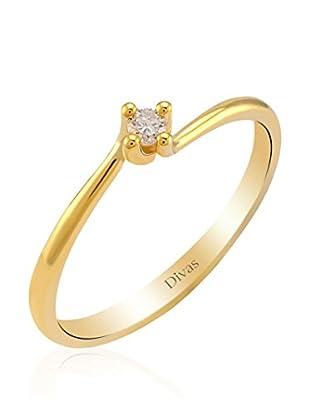 Divas Diamond Anillo Diamante Solitario (Dorado)