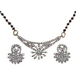Indian Touch American Diamond Brass Mangalsutra
