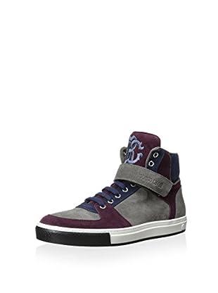 Roberto Cavalli Men's Michael High-Top Multi Color Sneaker