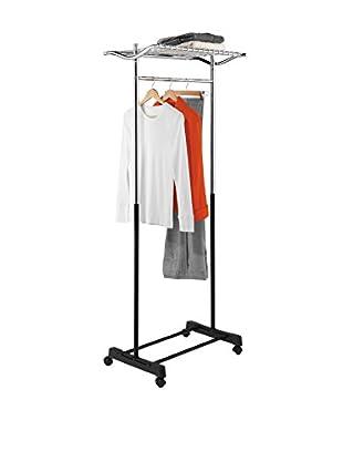 Honey-Can-Do Heavy Duty Rolling Garment Rack with Top Shelf