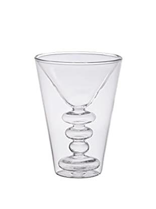 Bitossi Home Glas 2er Set Martini Cocktail transparent