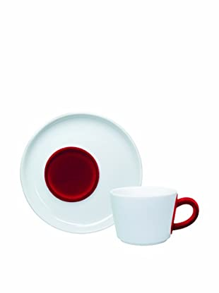 Kahla Juego De Taza Y Plato De Café 0,20 l Five Senses touch! (Rojo Oscuro)