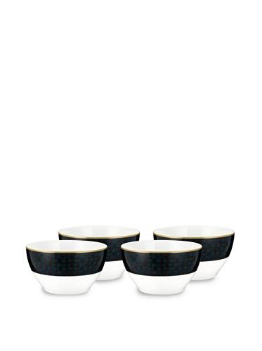 Noritake Set of 4 Everyday Elegance Verdena Small Round Bowls (Gold)