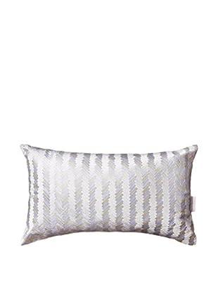 Kas Ziggy Oblong Pillow, White