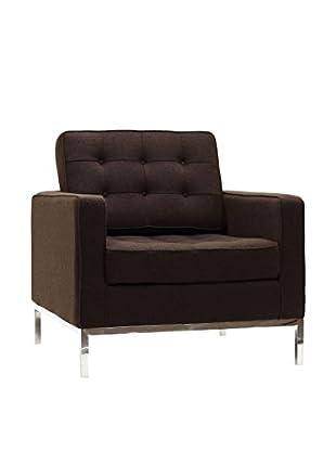 Modway Loft Armchair (Chocolate Brown Wool)