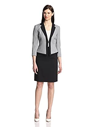 Tahari by ASL Women's Mini Houndstooth Skirt Suit