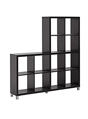 Baxton Studio Sunna Cube Shelving Unit, Dark Brown