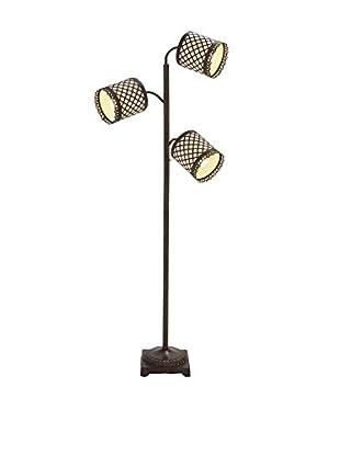 Metal 3-Arm Floor Lamp, Black