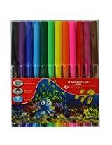 LUNA Fiber Tip Pens pack of 12 clrs
