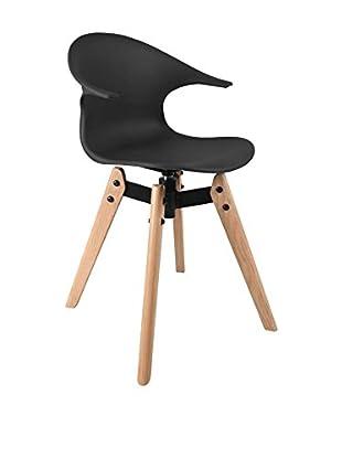 LO+DEMODA Stuhl Pelico Wood schwarz