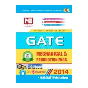 GATE - 2014: Mechanical Engineering & Production Engineering Solved Papers