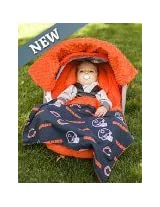 NFL Chicago Bears the Whole Caboodle 5pc Set - Baby Car Seat Canopy with Matching Accessories