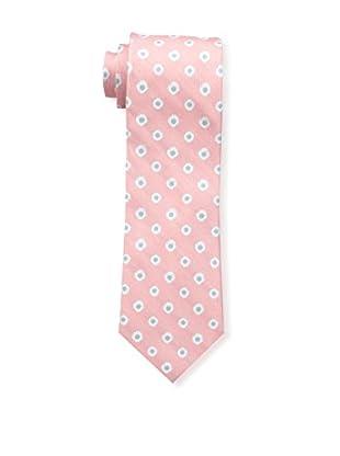 Bruno Piattelli Men's Flower Neat Silk Tie, Coral
