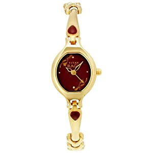 Titan Raga Analog Red Dial Women's Watch - NE2387YM07