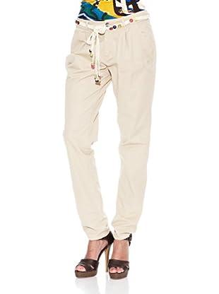 Desigual Pantalón Fresa (Crudo Beige)