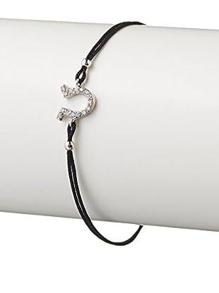 Argento Vivo Horseshoe Charm Station Bracelet