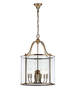 Safavieh Sutton Place Large 6-Light Pendant, Clear/Brass