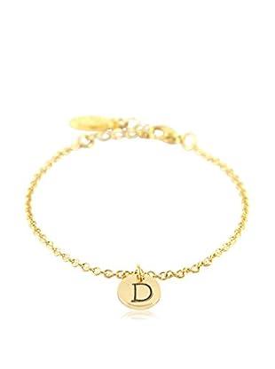 Ettika 18K Gold-Plated D Initial Chain Bracelet