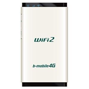 【クリックで詳細表示】日本通信 LTE対応 b-mobile 4G WiFi2ルータ SIMフリー端末 BM-AMR510WH