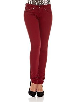Pepe Jeans London Pantalón New Brooke (Rojo Oscuro)