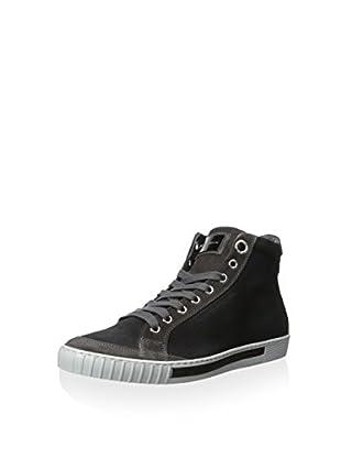 alessandro dell'Acqua Men's Range C High-Top Sneaker (Brown/Slate)