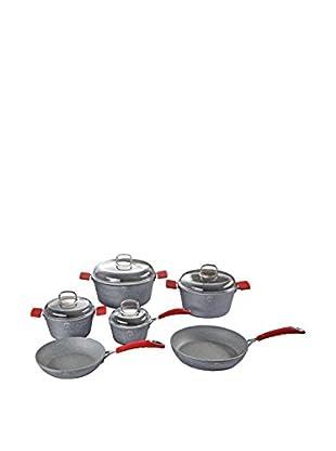 Berlinger Haus Set Batería de cocina 10 Piezas Stone Touch Line Gris