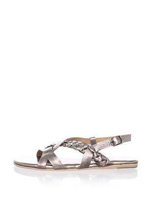 Fiel Women's Cedros Braided Sandal (Pewter)
