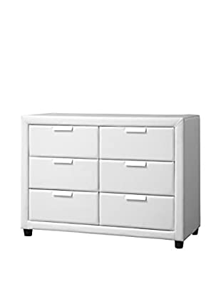 Baxton Studio Pageant Wood Contemporary Upholstered Dresser, White