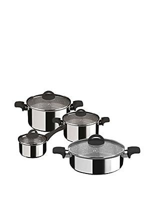 Mepra Fantasia Pietra 8-Piece Non-Stick Cookware Set, Black