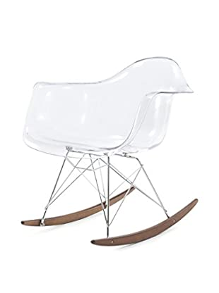 Meelano M10 Rocking Chair In Clear And Walnut